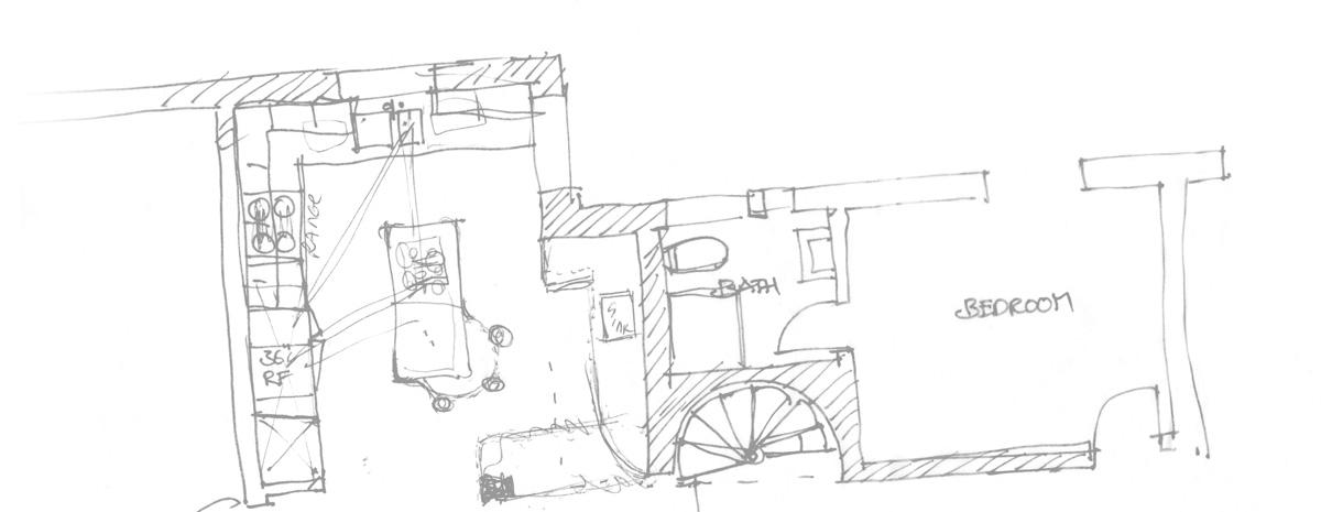 custom home floor plan sketch